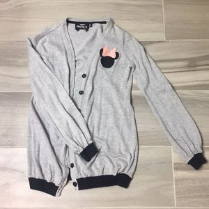 Forever 21 Grey Minnie Mouse Cardigan
